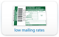 Low mailing rates